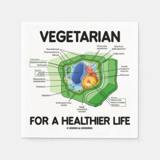 Serviette Jetable Végétarien pendant une vie plus saine (cellule de