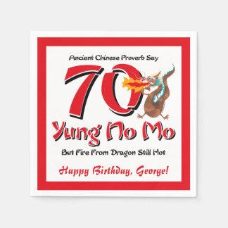 Serviette Jetable Yung aucun soixante-dixième anniversaire de MOIS