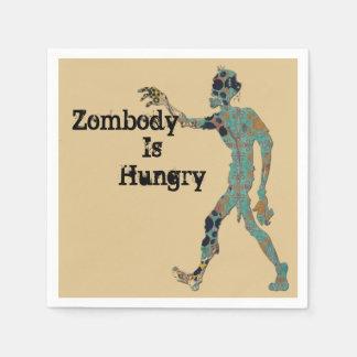 Serviette Jetable Zombody a faim