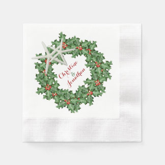 Serviettes de mariage d'étoiles de mer de serviettes jetables