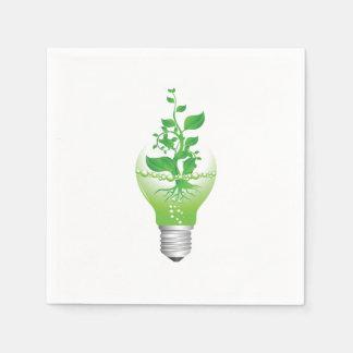 Serviettes de papier d'ampoule de jour de la terre serviettes jetables