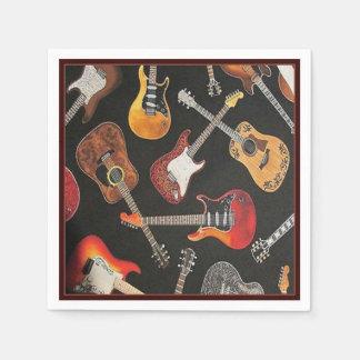 Serviettes de papier de ciel de guitare serviette en papier