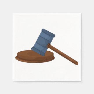 Serviettes de papier de Gavel de juges Serviettes Jetables