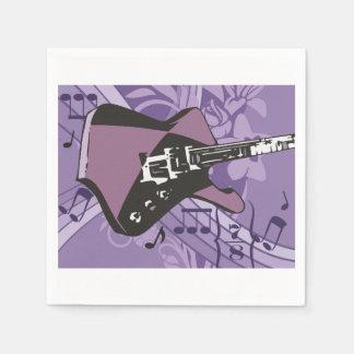 Serviettes de papier de guitare électrique serviette en papier
