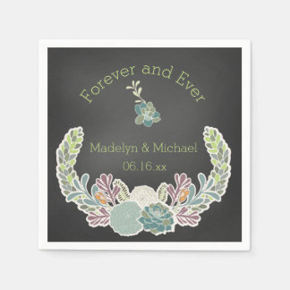 Serviettes de papier de mariage fait sur commande serviette en papier