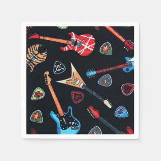 Serviettes de papier de motif de guitares de roche serviette en papier