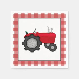 Serviettes de papier de partie de tracteur de pays serviette en papier