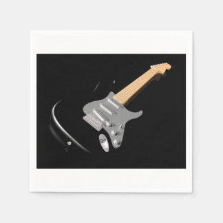 Serviettes de papier noires de guitare électrique serviettes jetables