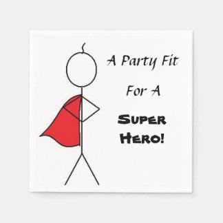 Serviettes de Pary de l'enfant de superhéros Serviette Jetable