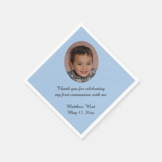 Serviettes de photo de communion personnalisées serviette en papier