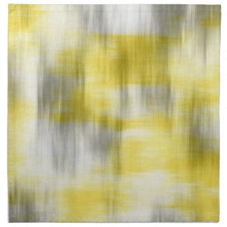 Serviettes De Table Abrégé sur jaune blanc gris