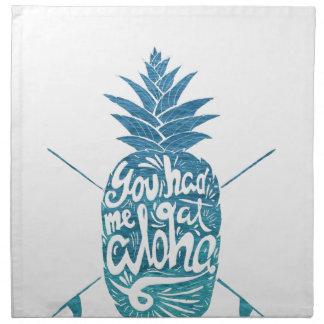Serviettes De Table Aloha planches de surf d'ananas