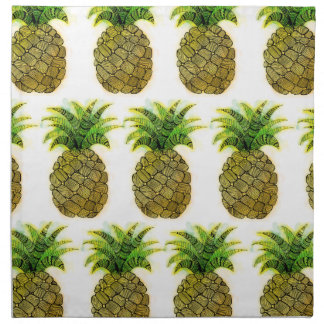 Serviettes De Table Ananas d'aquarelle