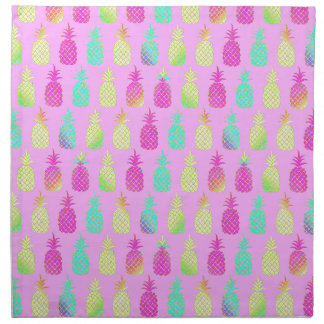Serviettes De Table Ananas en pastel
