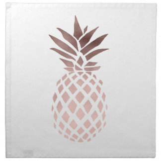 Serviettes De Table ananas tropical d'or rose clair élégant de faux