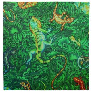 Serviettes De Table Batik de lézards