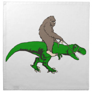 Serviettes De Table Bigfoot montant T Rex