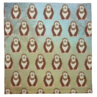 Serviettes De Table Bigfoot sylvatique Squatch