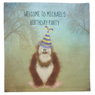 Serviettes De Table Bigfoot sylvatique Squatch personnalisé