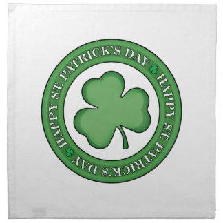 Serviettes De Table Bouclier heureux de Jour de la Saint Patrick