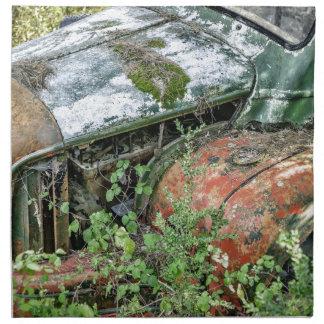 Serviettes De Table Camion vintage abandonné
