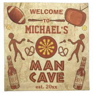 Serviettes De Table Caverne drôle d'homme avec votre coutume nommée