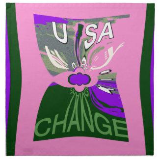 Serviettes De Table Changement rose Hillary Etats-Unis nous sommes