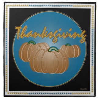 Serviettes De Table Citrouilles d'automne de thanksgiving