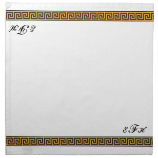 Serviettes De Table Clé et monogramme grecs