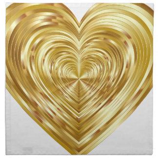 Serviettes De Table Coeur #2 d'anniversaire
