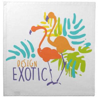 Serviettes De Table Conception exotique de logo avec des oiseaux de
