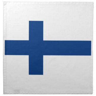 Serviettes De Table Coût bas ! Drapeau de la Finlande