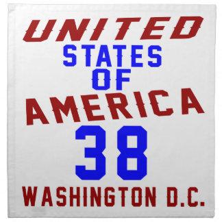 Serviettes De Table DC des Etats-Unis d'Amérique 38 Washington