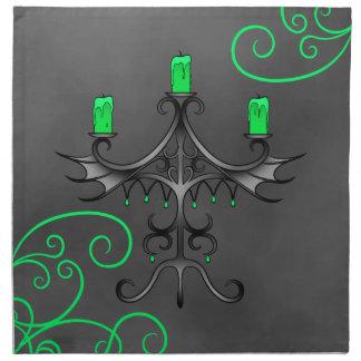 Serviettes De Table De candélabres de Halloween vert gothique assez