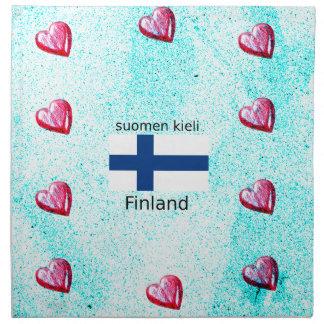 Serviettes De Table Drapeau de la Finlande et conception finlandaise