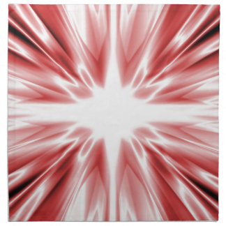 Serviettes De Table Étoile en soie rouge brillante