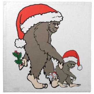 Serviettes De Table Famille de Bigfoot de Noël