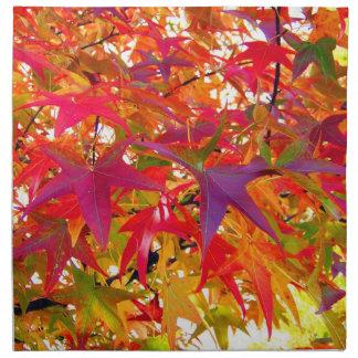 Serviettes De Table Feuille d'automne