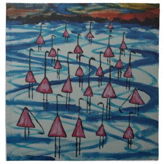 Serviettes De Table Flamants dans le lac salé