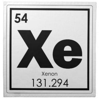 Serviettes De Table GE de formule de chimie de symbole d'élément