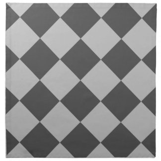 Serviettes De Table Grand Checkered de Diag - gris-clair et gris-foncé