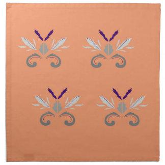 Serviettes De Table Gris orange d'ornements de luxe