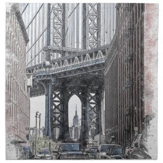 Serviettes De Table Horizon de pont des Etats-Unis New York Manhattan
