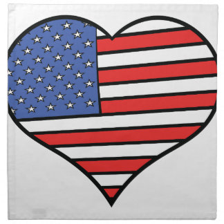 Serviettes De Table J'aime la fierté de l'Amérique - des Etats-Unis
