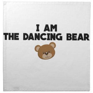 Serviettes De Table Je suis l'ours de danse