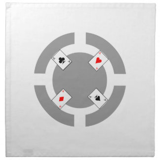 Serviettes De Table Jeton de poker - gris