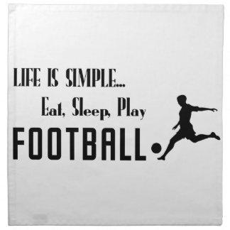 Serviettes De Table mangez le football de jeu de sommeil