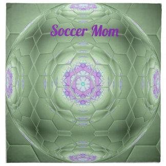 Serviettes De Table Motif artistique 'du football de vert chic de