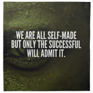 Serviettes De Table Mots inspirés de succès - nous sommes tous qui a