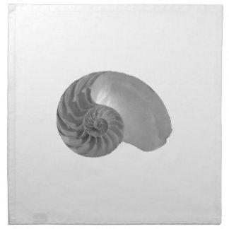 Serviettes De Table Nautilus Shell de simplicité de complexité